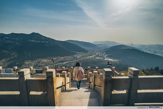 Panoramic city view top things to do in Jinan China 1000 Buddha Mountain