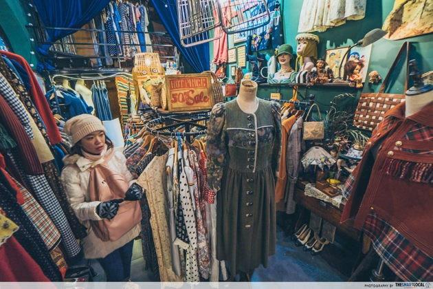 Hipster scene in jinan china vintage shop furong street