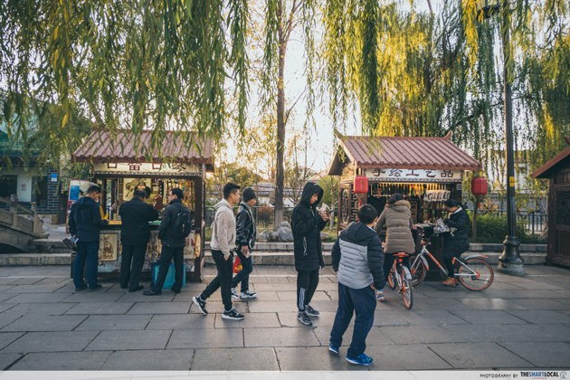 Traditional places in jinan china qushuiting street