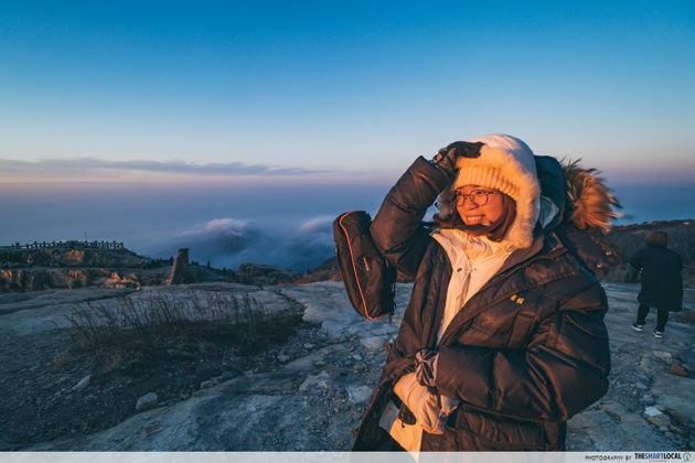 Best things to do in Jinan China Mount Taishan sunrise viewing on a mountain