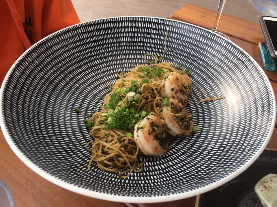 A new year, a fresh diet (28) - Tiger prawn capellini