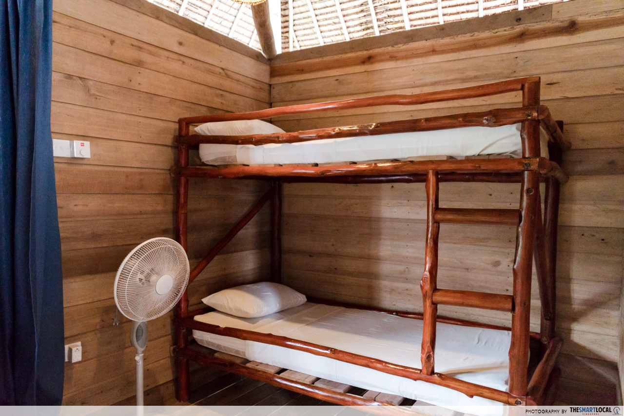 Telunas Resorts (27) - Bunk bed interior