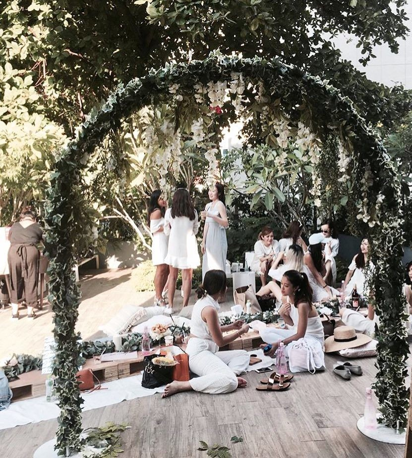 Plan B garden themed picnic setups catering companies in Singapore for girls day out
