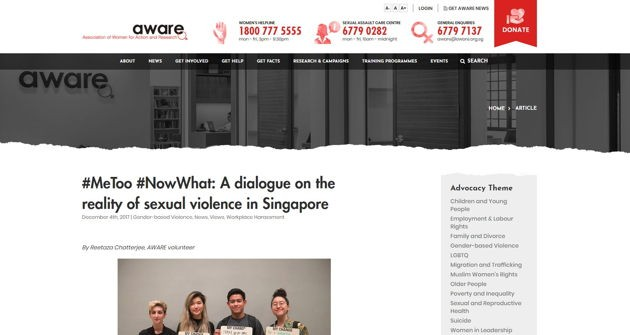 AWARE writer new low commitment ways to volunteer in Singapore