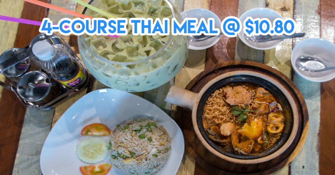4 course thai student meal tom yum mama