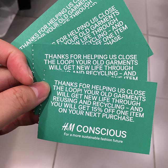 Seemingly useless items (6) - H&M vouchers