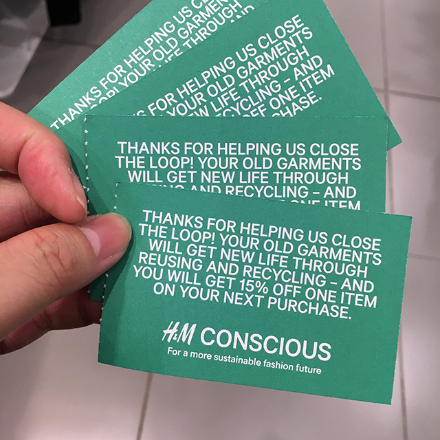 Seemingly useless items (6) - H&M vouchers
