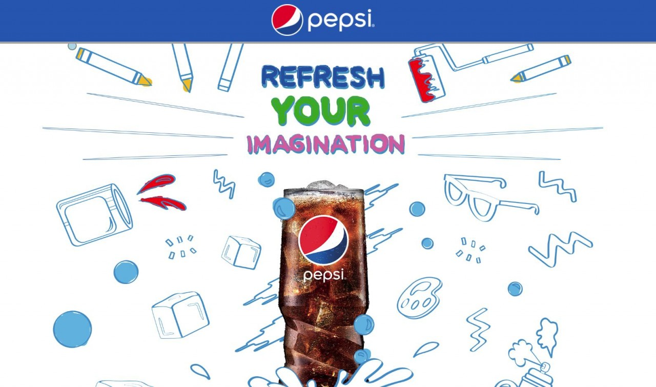 Pepsi - drawn template