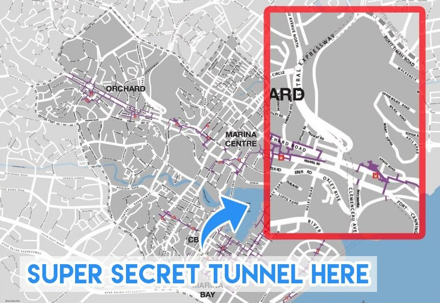 Secret tunnel Oxley road