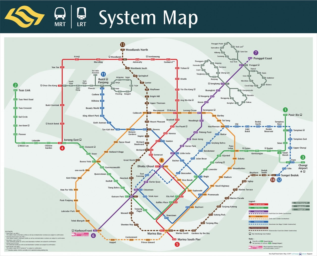 MRT LTA Map