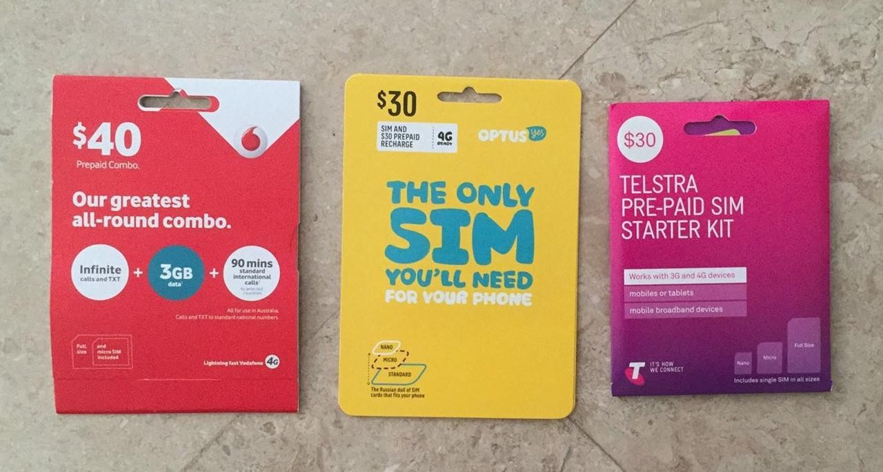 Studying in Australia - sim card