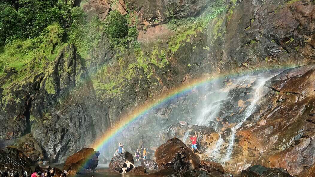 rainbow waterfall kuantan