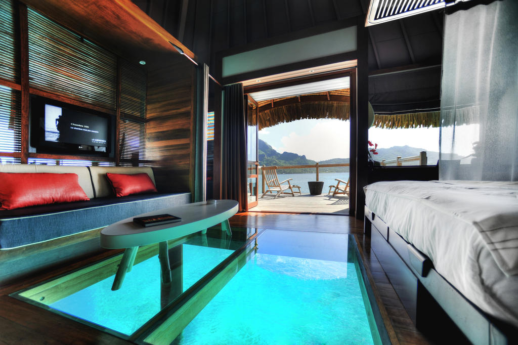 overwater resort glass floor