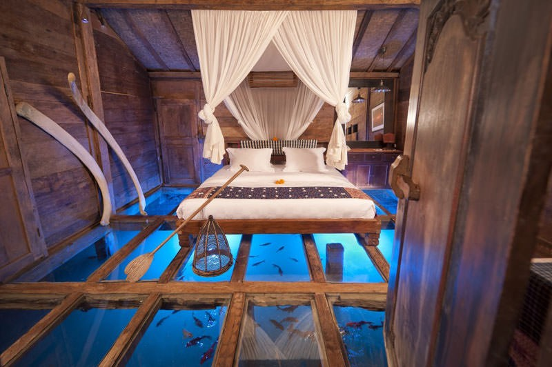 glass floor bali overwater resort