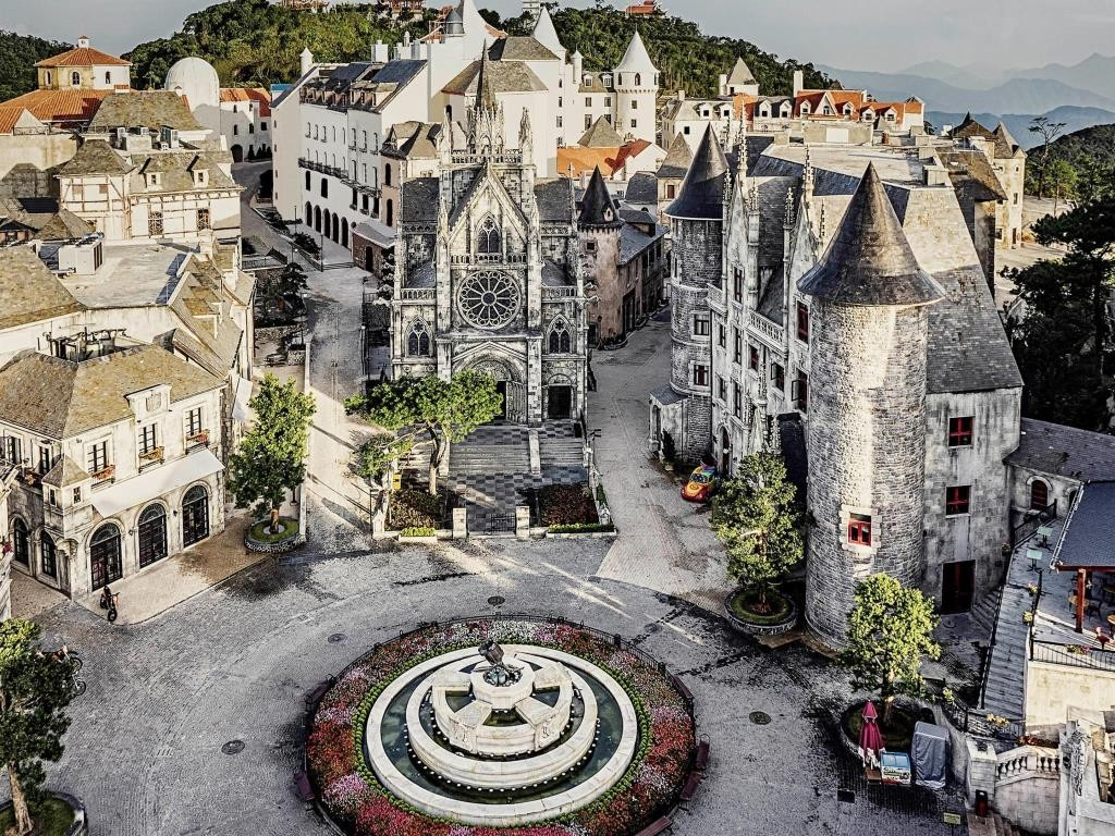french village castle stay hotel vietnam