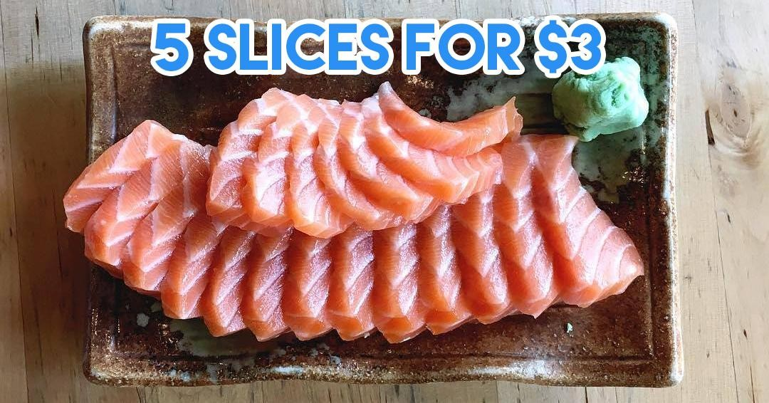 sashimi - 5 slices for $3