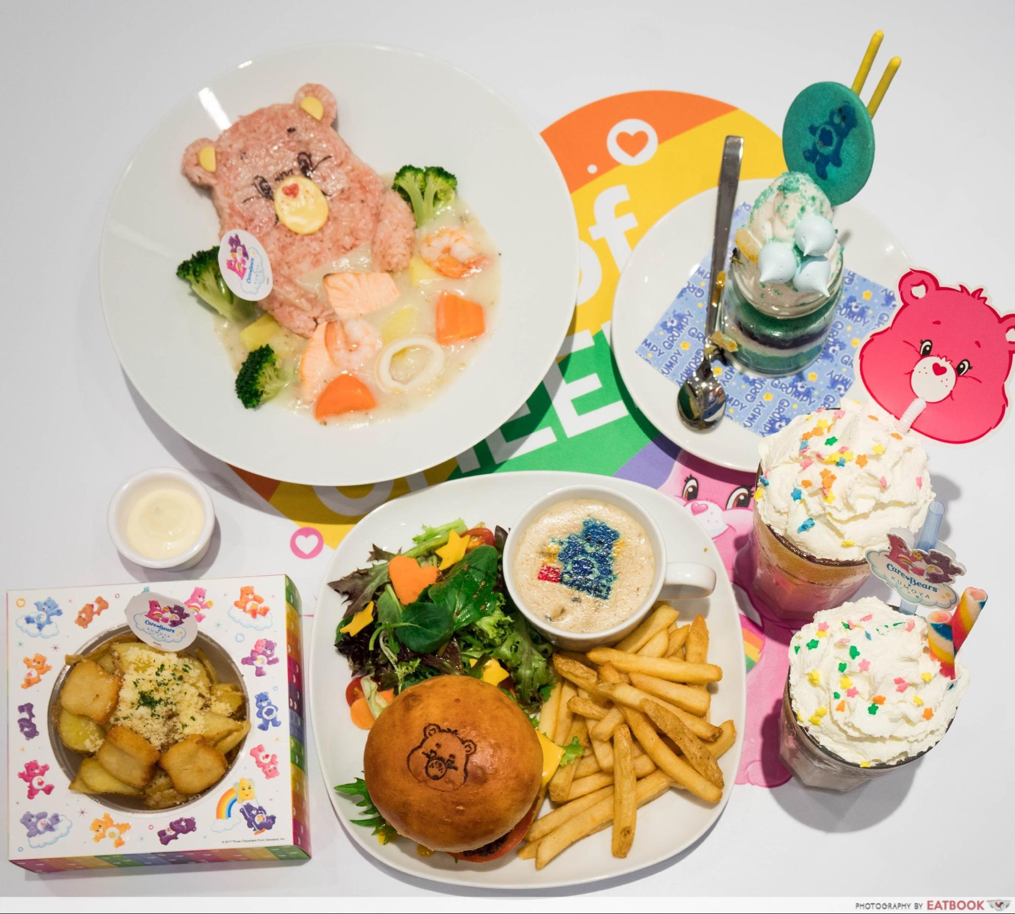 Feb 2018 cafes and restaurants (5) - Care Bears Cafe food