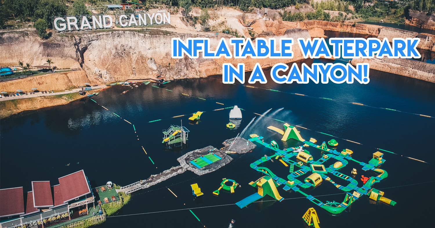 Chiang Mai's Mini Grand Canyon Is Actually A Ninja Warrior Water Park With Ziplines, Zorbing & A Floating Playground