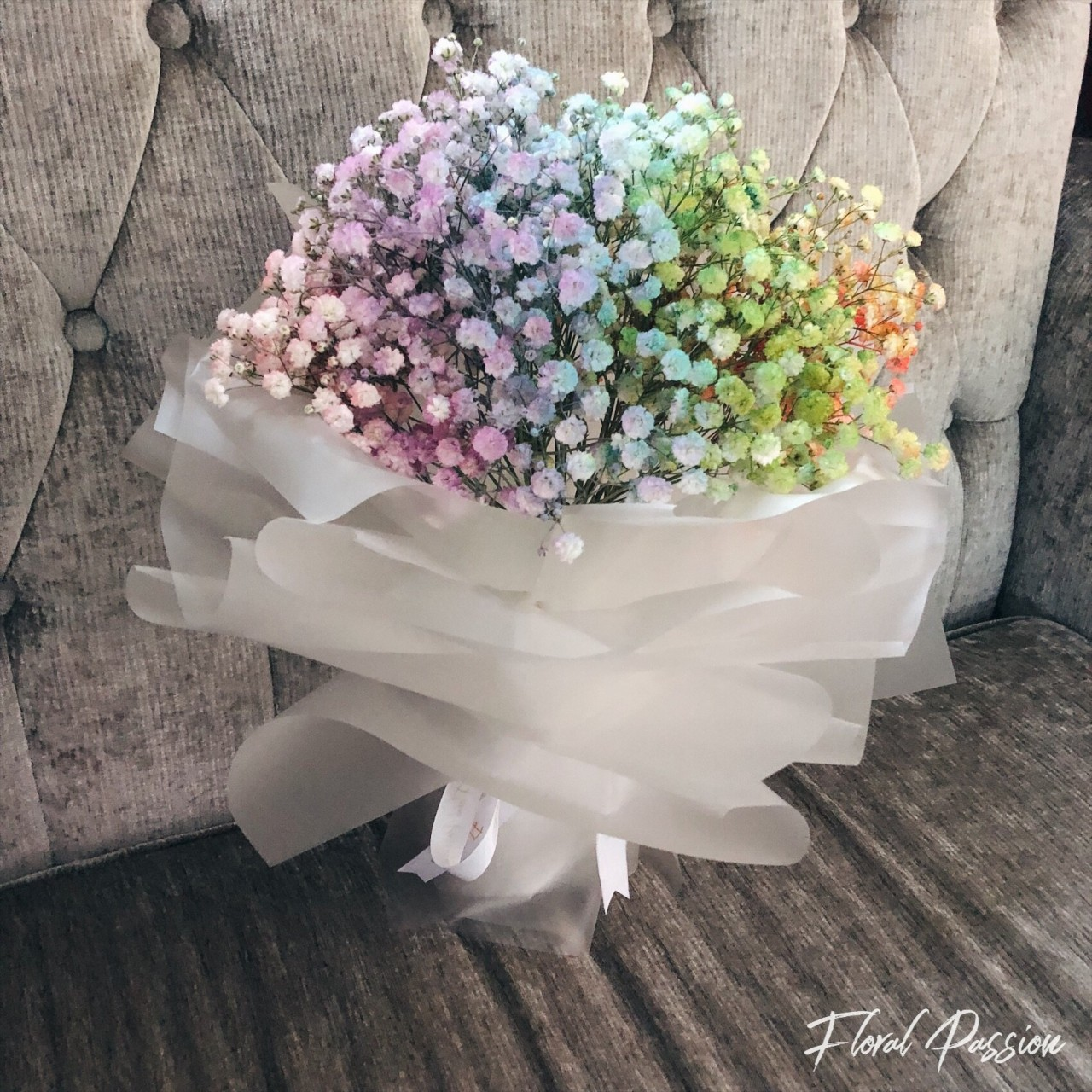 8 affordable valentines day bouquets under 50 all over singapore 1 floral passion rainbow babys breath and fluttery hydrangea bunches izmirmasajfo Choice Image