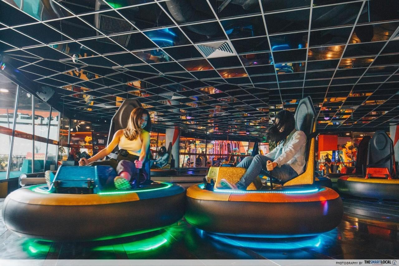 Timezone LED Bumper Cars in Vivocity Arcade