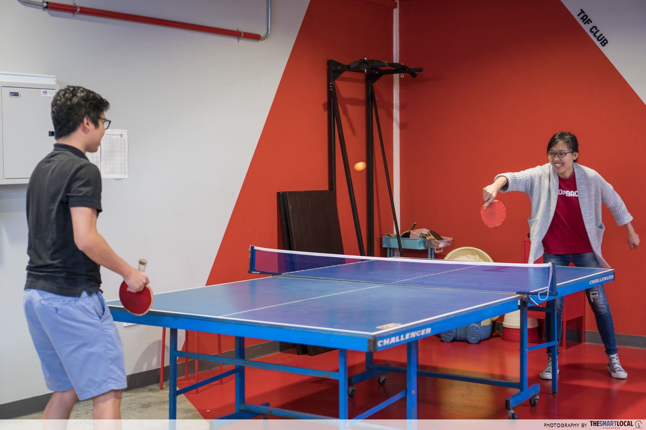 shopback office singapore table tennis