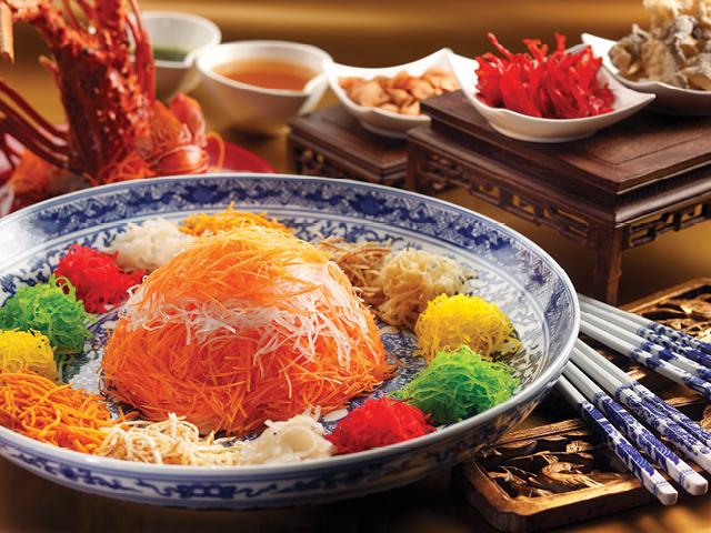 Chinese New Year Tuan Yuan Fan Food Items