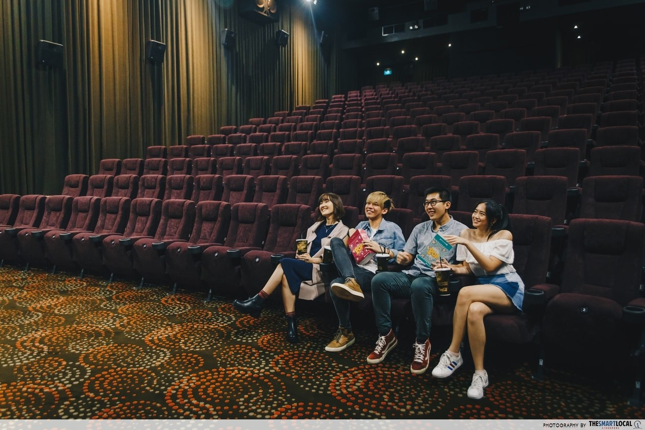 empty theater in GV suntec city cinema