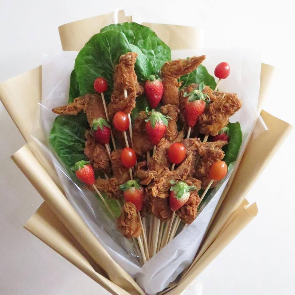 chicken wing bouquet