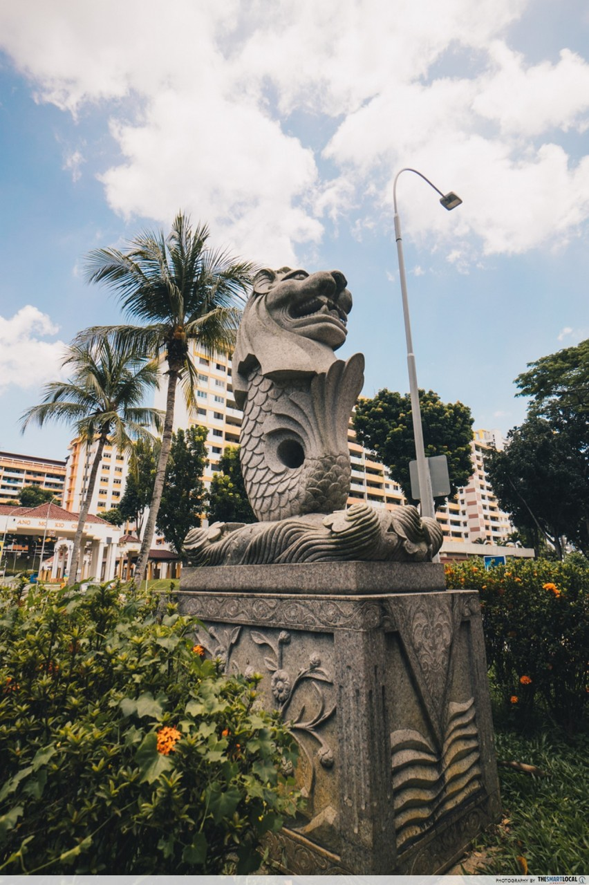 merlion statue in the heartlands