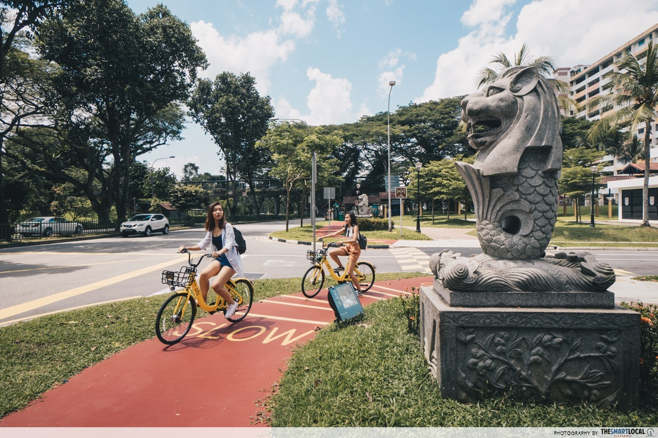 hidden merlion statues near bishan-amk park