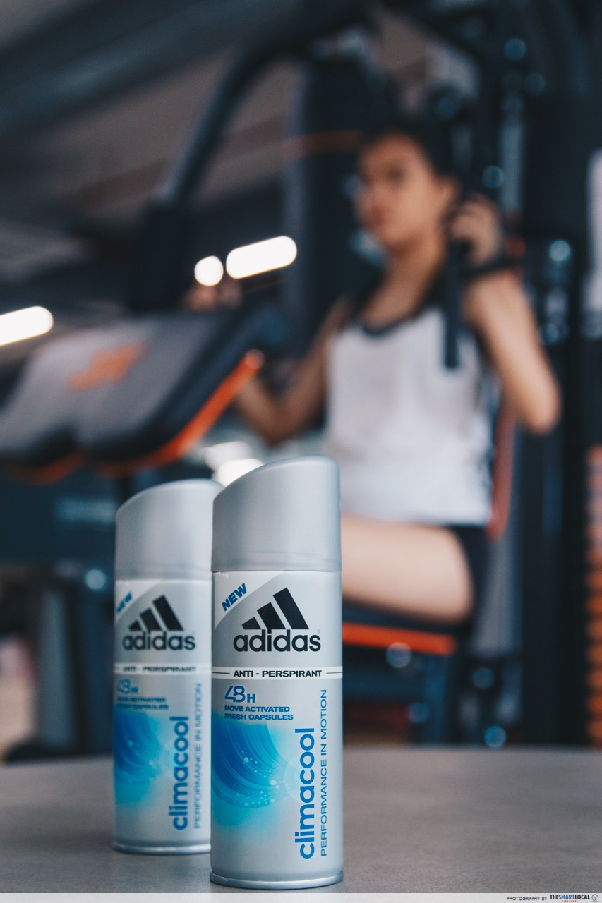 deodorant antiperspirant lifting gym weights