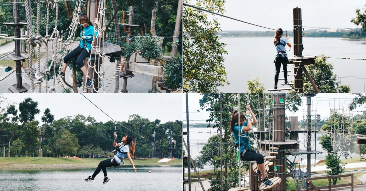 Forest Adventure We Tried This Treetop Obstacle Course At Bedok Reservoir With Zip Lines Over Water