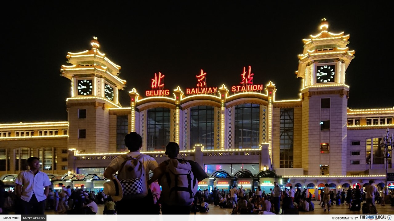 beijing raiway station trans manchurian train