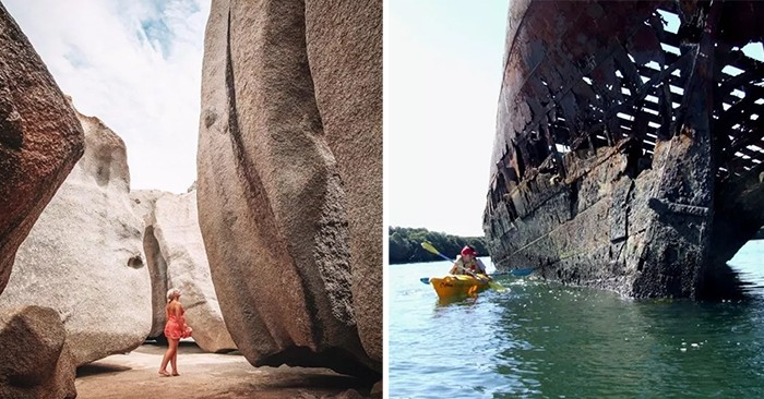 remarkable rocks and kayaking along shipwrecks australia