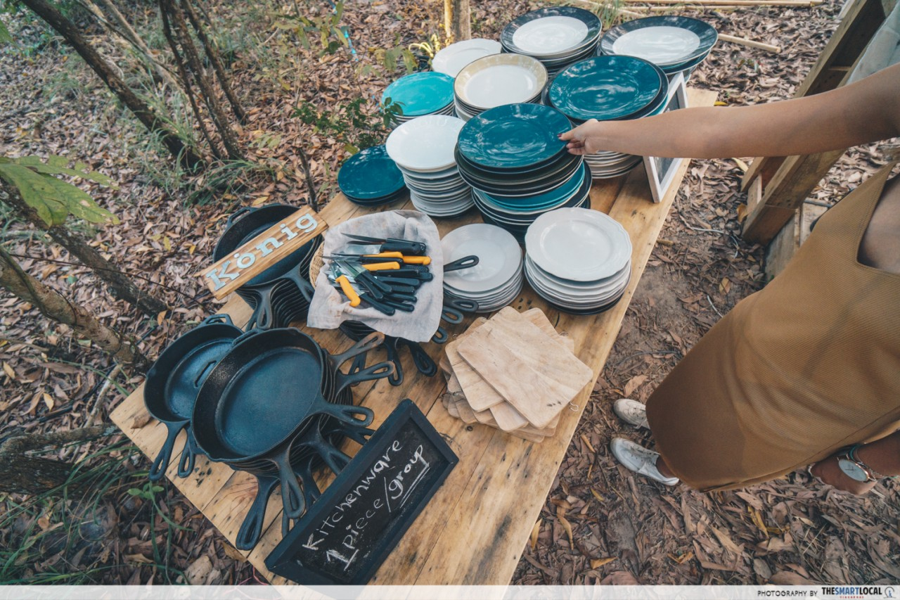Camp Meating - Selection of kitchenware