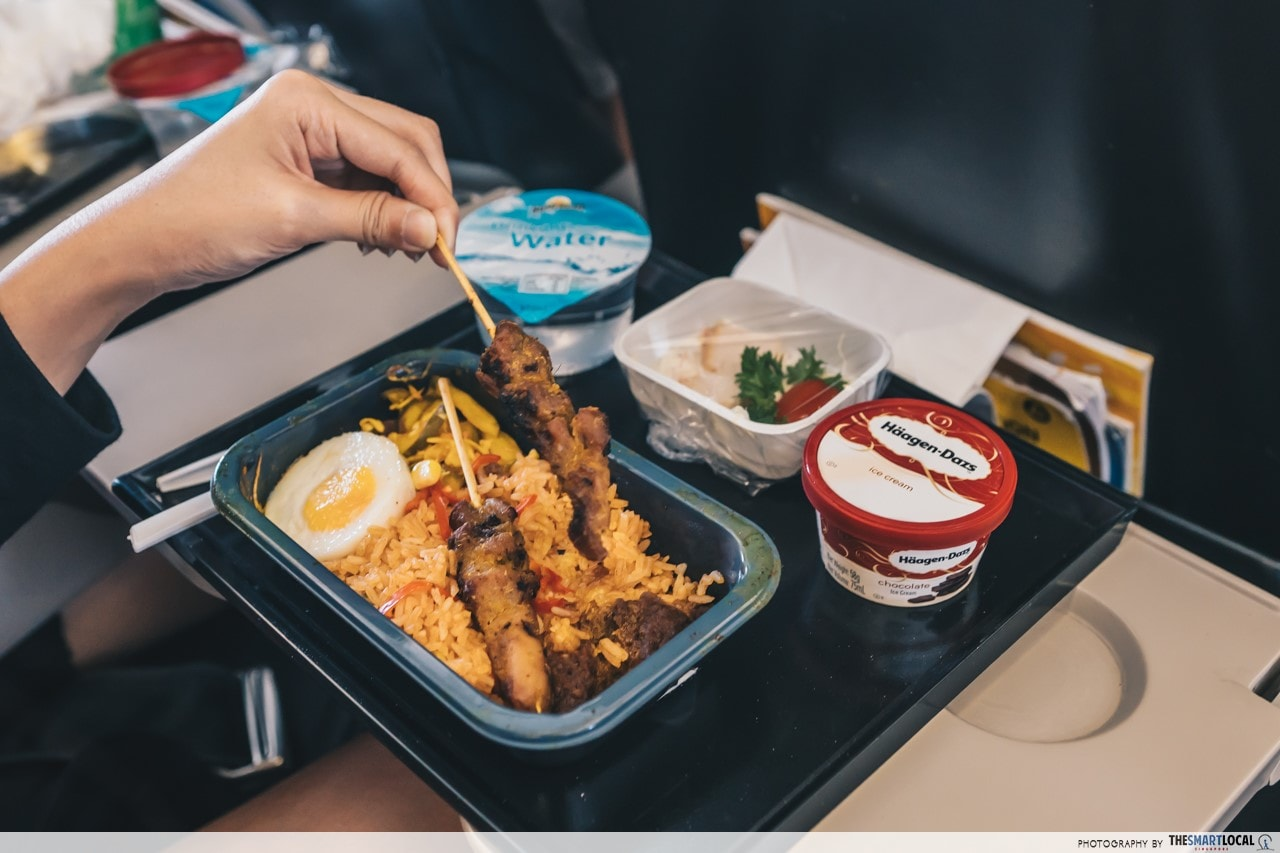 Scoot Premium Meal Combo: Signature Nasi Goreng with Chicken Satay