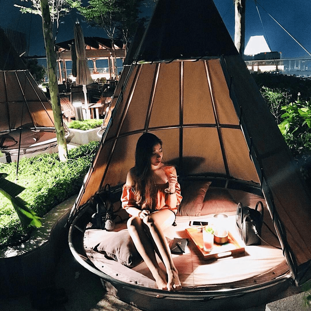 Andaz Singapore teepee huts