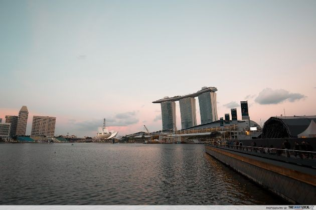 The Marina Bay skyline