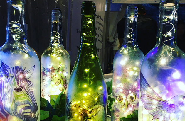 Making beautiful lamps out of your old bottles