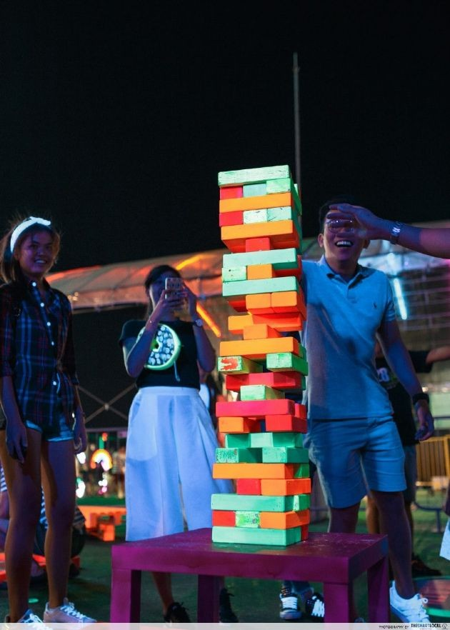 Playing a life-sized game of Jenga