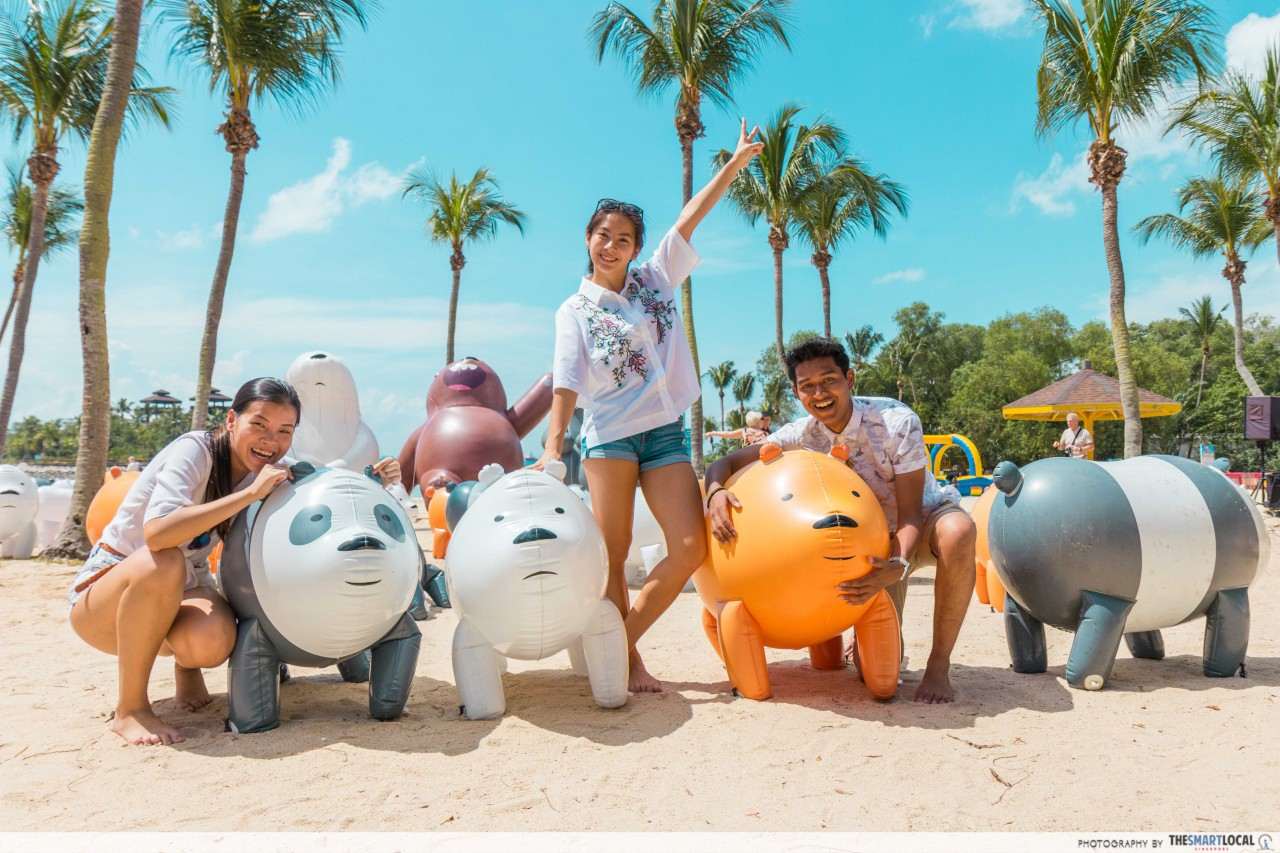 sentosa funfest 2018 wbb cartoon network grizz panda ice bear