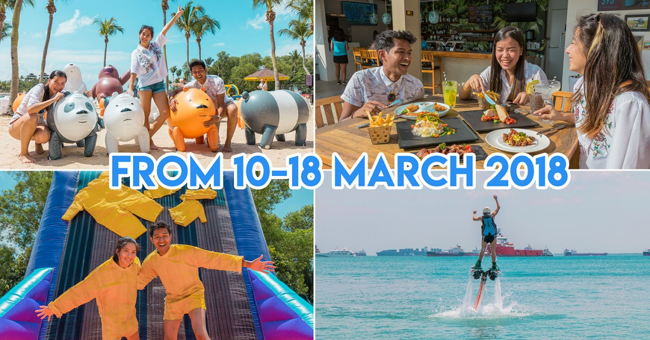 Sentosa FunFest 2018 - Over 300 We Bare Bears Have Invaded Palawan's Epic Inflatable Playground