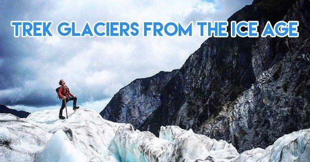 Gazing up at New Zealand's glaciers