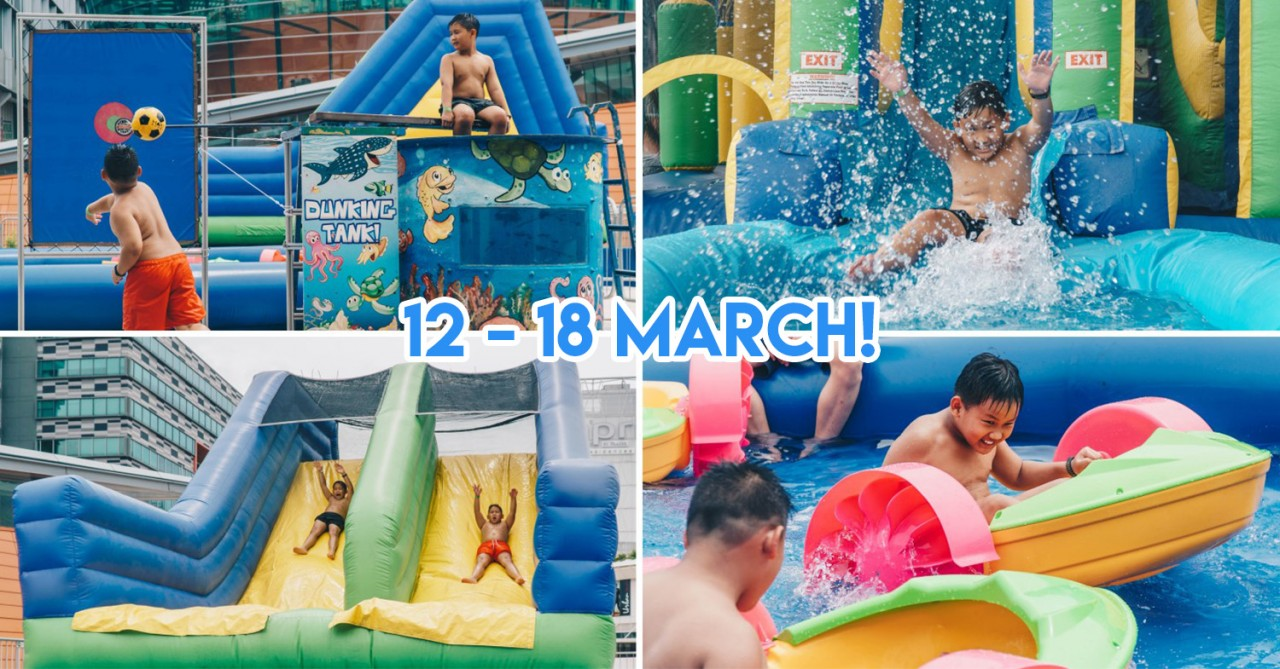 Changi City Point Is Kick-Starting The March Holidays With An Inflatable Water Theme Park