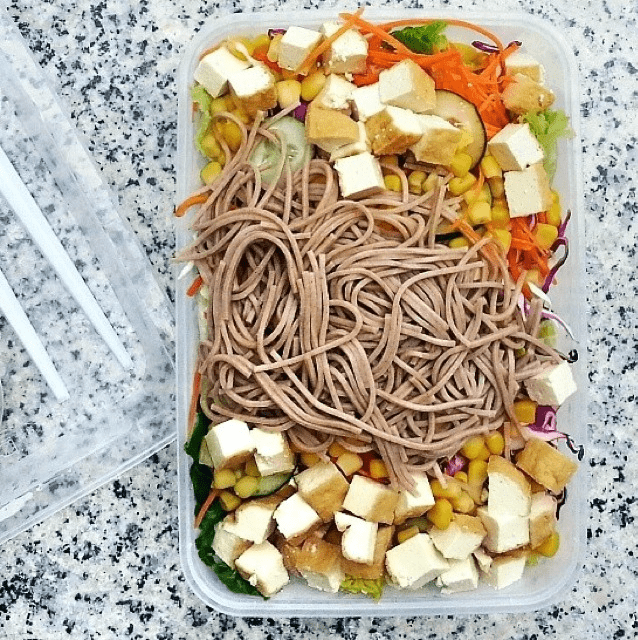 The Salad Corner - tofu soba salad