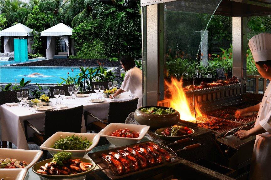 BBQ dinner buffet at Oasis @ Grand Hyatt Singapore discount
