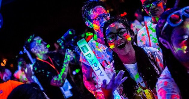 The ILLUMI Run is lit up with glow-in-the-dark paint