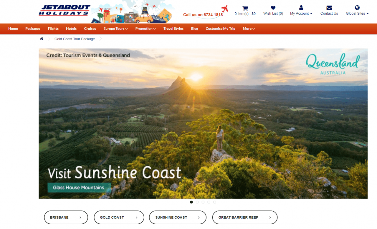 Jetabout Holidays Queensland Tour - Sunshine Coast, Gold Coast, Cairns