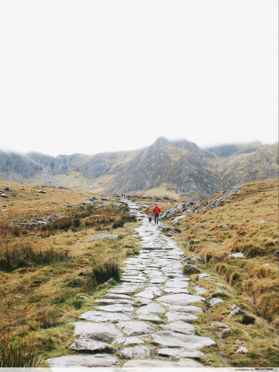 Hiking in Europe - Stone path
