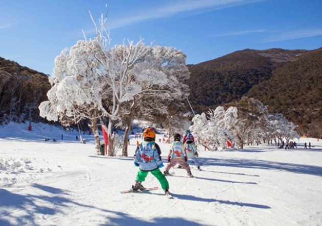 Playing in the snow at Thredbo